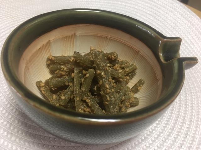 フキの胡麻和え、名古屋の料理代行サービス