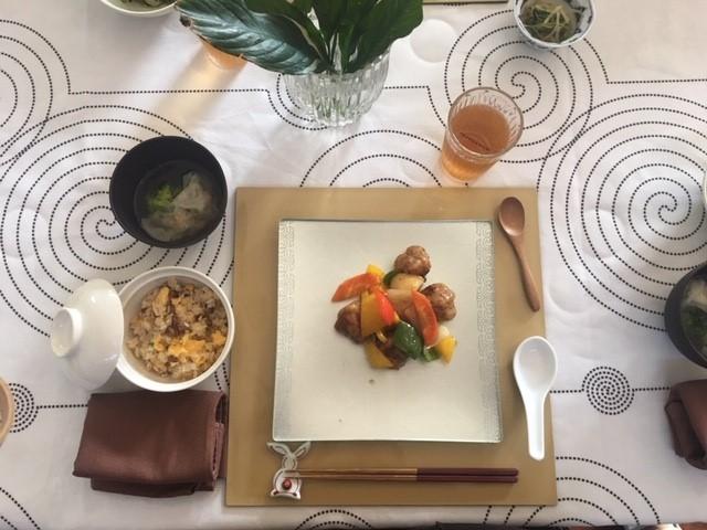 炒飯 酢豚
